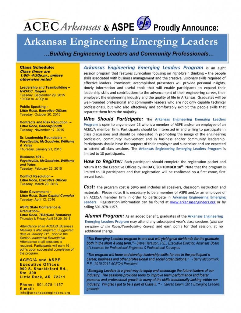 Emerging Leaders Marketing Brochure 2015-2016