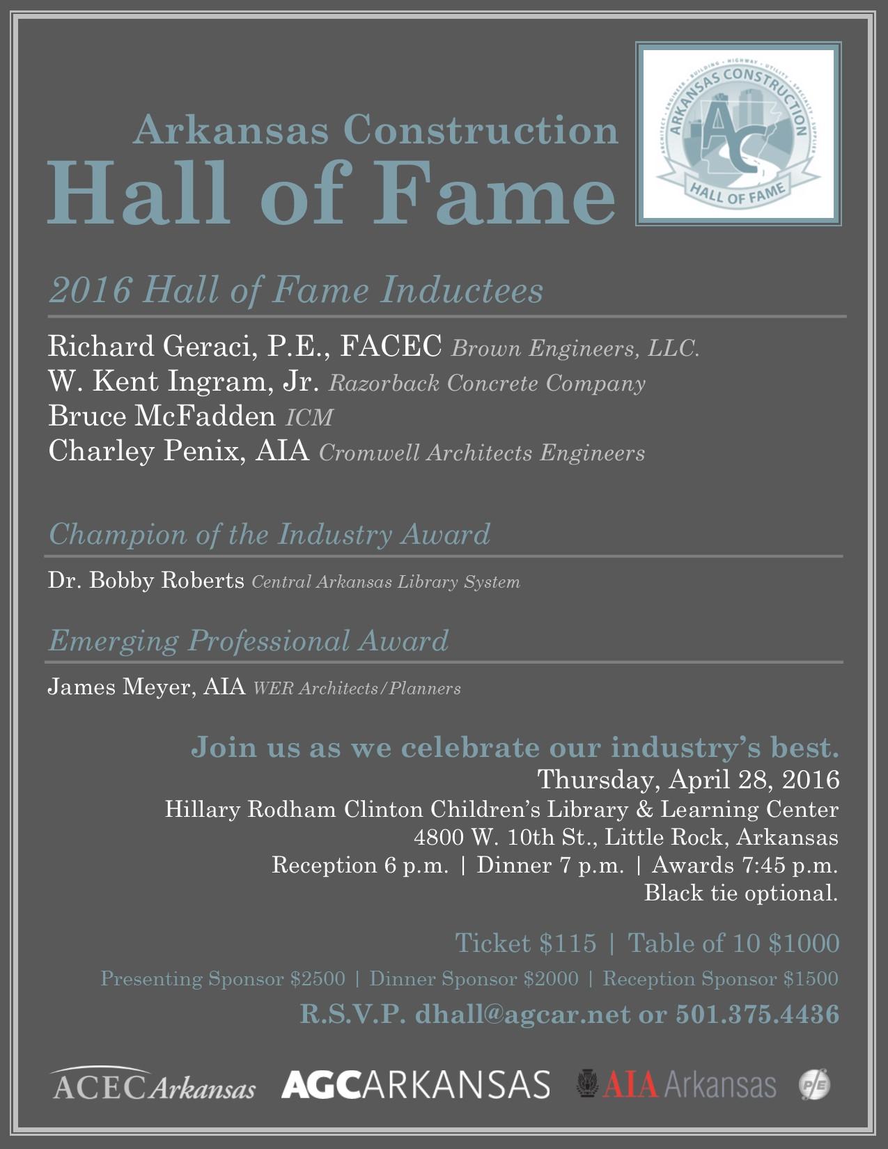 Hall of Fame Invitation