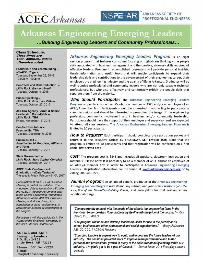 Emerging Leaders Marketing Brochure 2016-2017